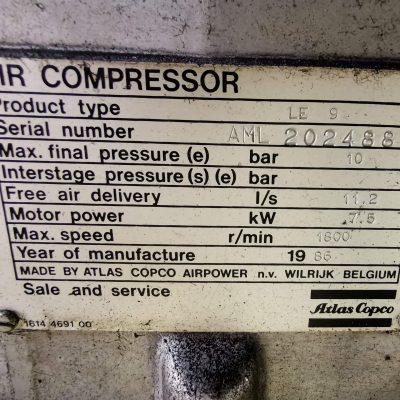 Kompressor Atlas Capco Typ LE9